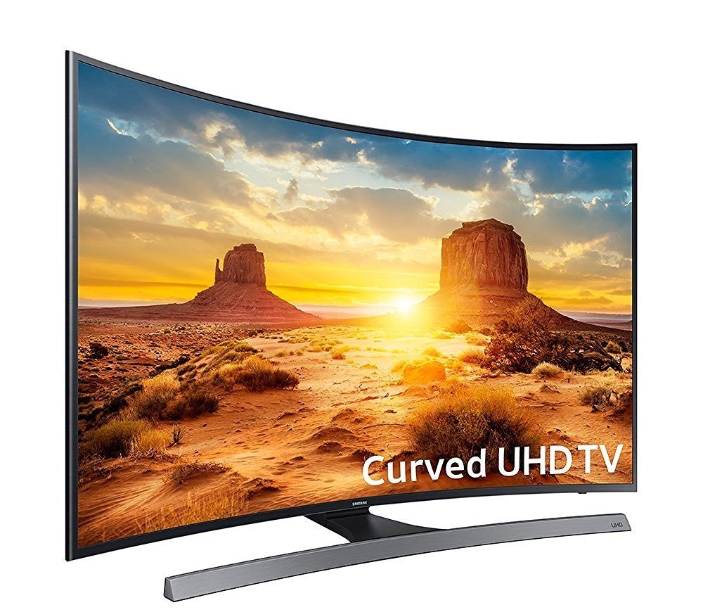 image of curved 4k UHD widescreen from Samsung