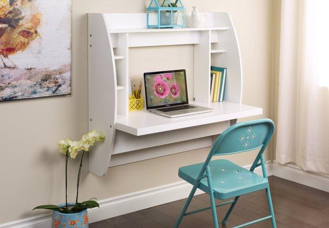 Image of white pc office desk