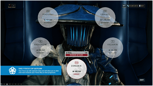 Warframe Focus a Complete 2019 Guide (Farming Focus, Pool, Energy