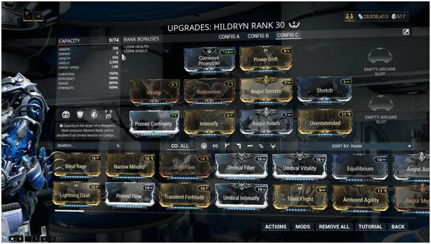 Image result for warframe hildryn build guide