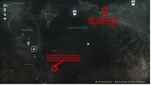 Cosmodrome Lost Sectors Map