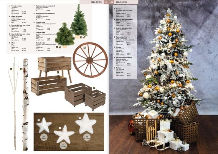 Déco de Noël en bois Déco de Noël nature