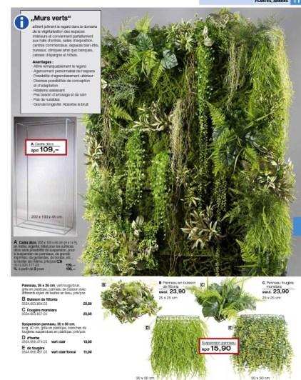 Décoration mur végétal artificiel