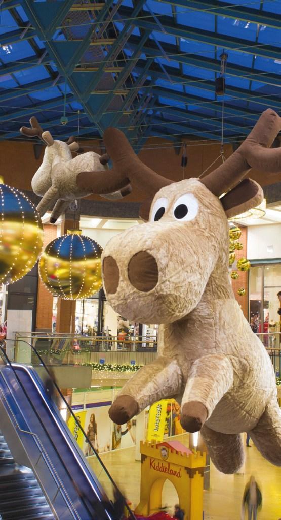 decoration noel grand renne