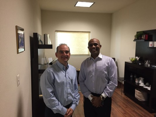 Dr. Roman Lal (Wellness Institute of Southern California) and Elias Bemaras (ProgenCell)