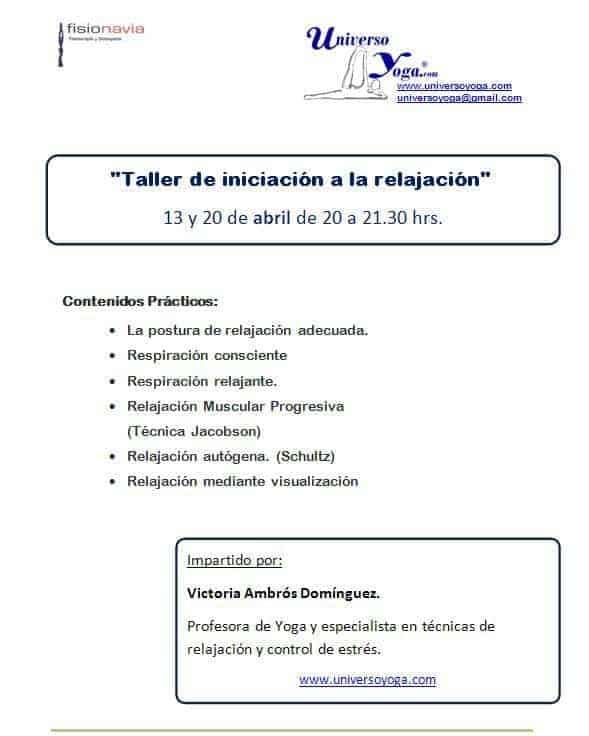 Taller Técnicas de Relajación- Vigo 2012