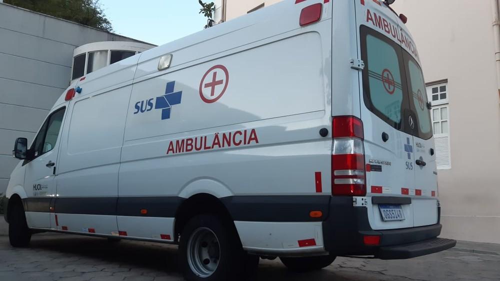 Ambulância em Natal. — Foto: Sérgio Henrique Santos/Inter TV Cabugi