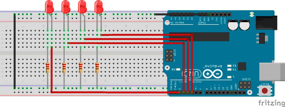 Circuito LEDs aleatorio