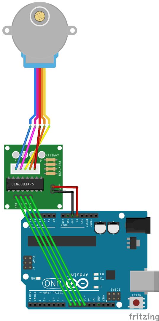 Conexión motor 28byj-48 Arduino