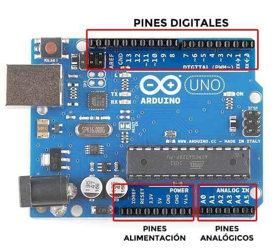 Pines Arduino UNO