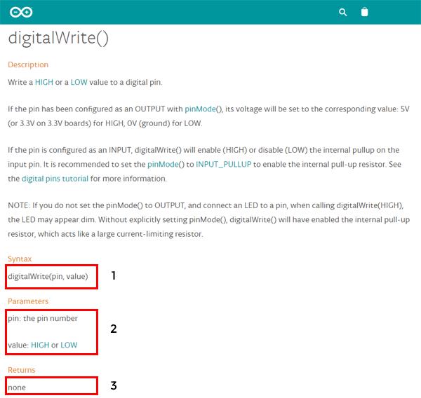 digitalwrite referencia arduino
