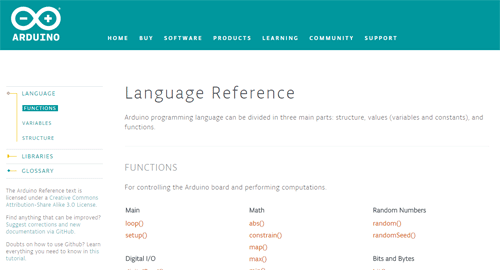 referencia lenguaje arduino