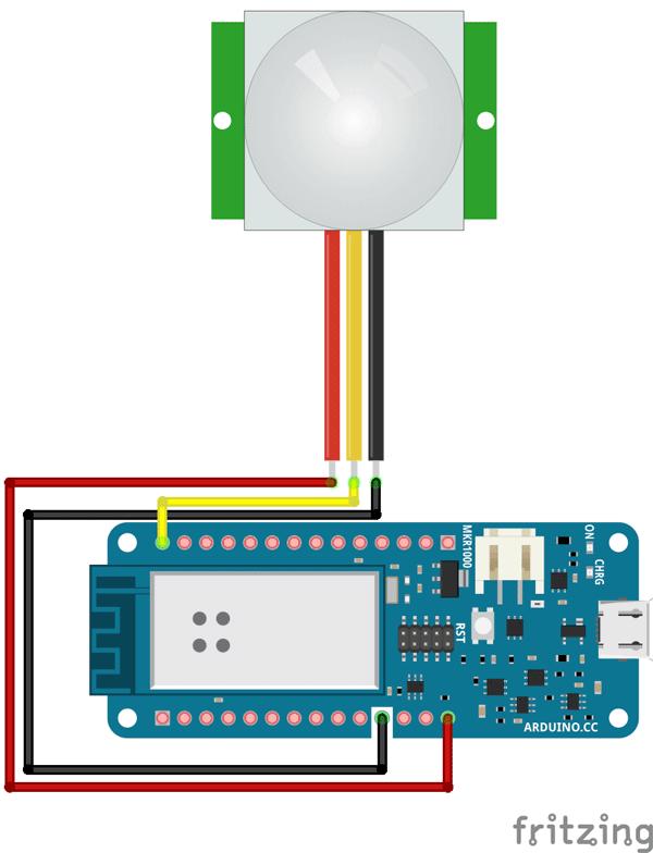 arduino mkr1000 sensor pir