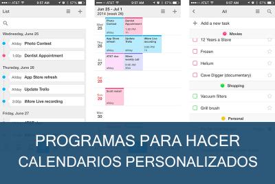 Programas para hacer Calendarios Personalizados Gratis
