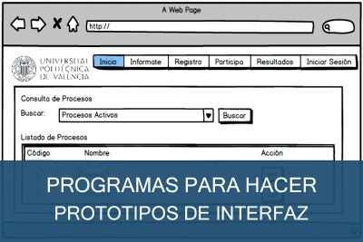 Programas para hacer Prototipos de Interfaz Gratis