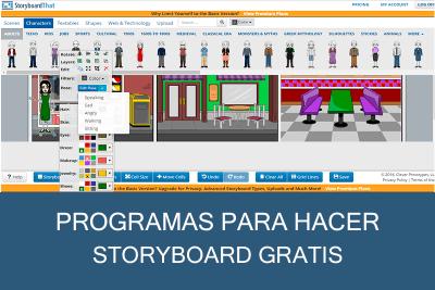 Programas para hacer Storyboard Gratis