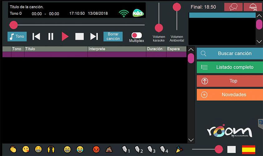 pantalla principal de KaraokeMedia