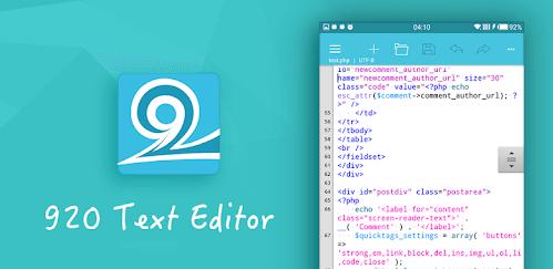 1. 920 Text editor