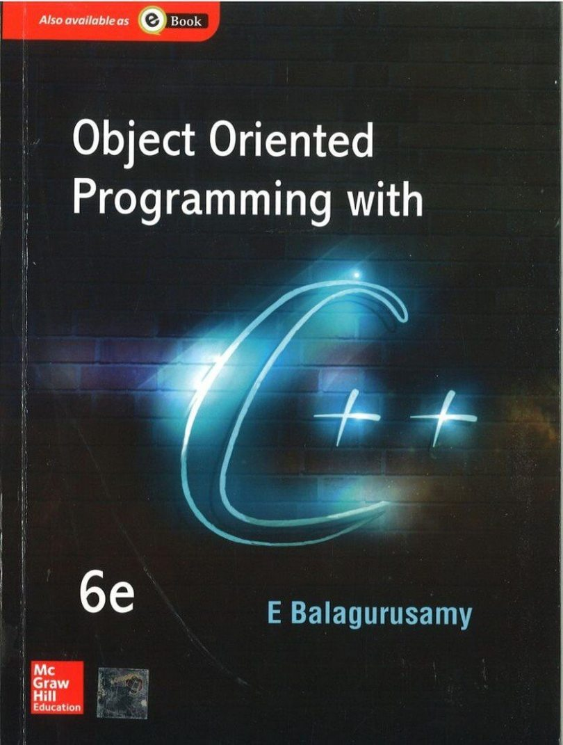 Balaguruswamy c++ Object Oriented Programming download pdf Book