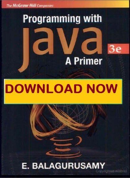 Balaguruswamy Java 5th Edition Pdf