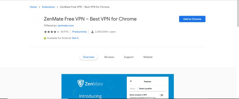 5. Zenmate Free VPN