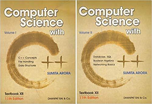 {Updated} Sumita Arora C++ Class 12 PDF Book and Solutions