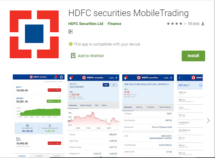 8. HDFC Mobile Trading app