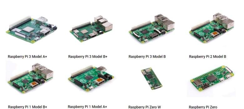 différentes carte Raspberry