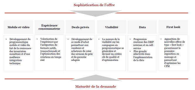 Les 6 piliers du développement du programmatique en France - observatoire de l'epub SRI Udecam