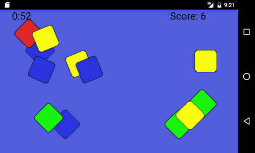 Geometry Tap ingame picture with quare as selected symbol