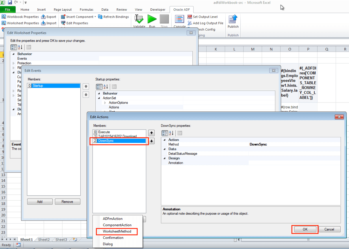 How To Configure Adf Desktop Integration Adfdi Worksheet