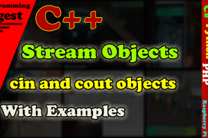 c++ Stream objects