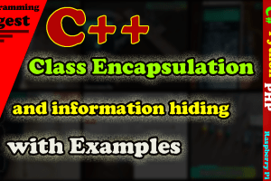 Class encapsulation and information hiding