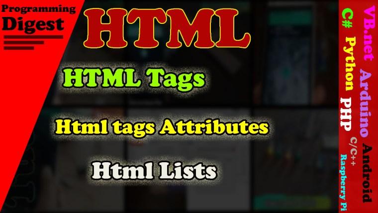 Html tags