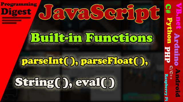 JavaScript built-in function