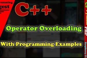 C++ Operator Overloading