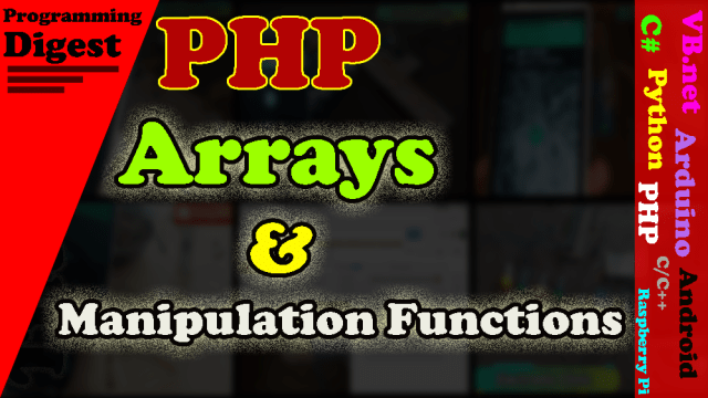 array and manipulation functions