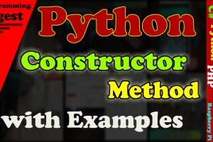 Python Constructor