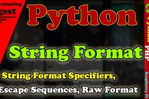 Python String Format
