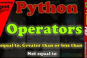 python operators