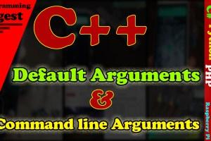 C++ Default Arguments