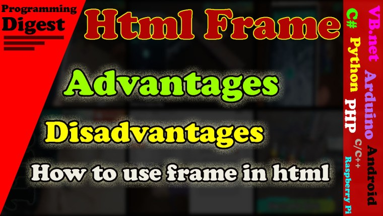html frame how to use frame