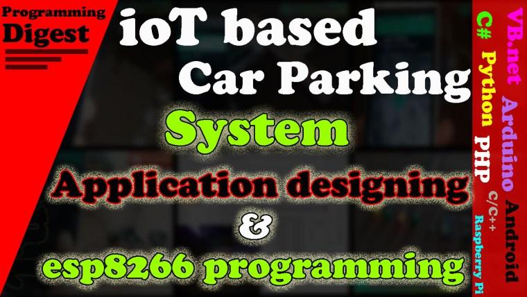 iot based car parking