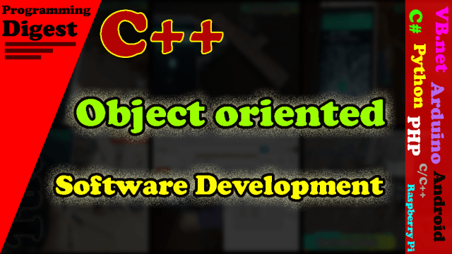 Object-oriented software development