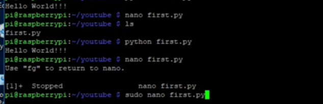 Raspberry Pi first Programming