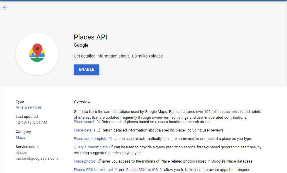 google places autocomplete example