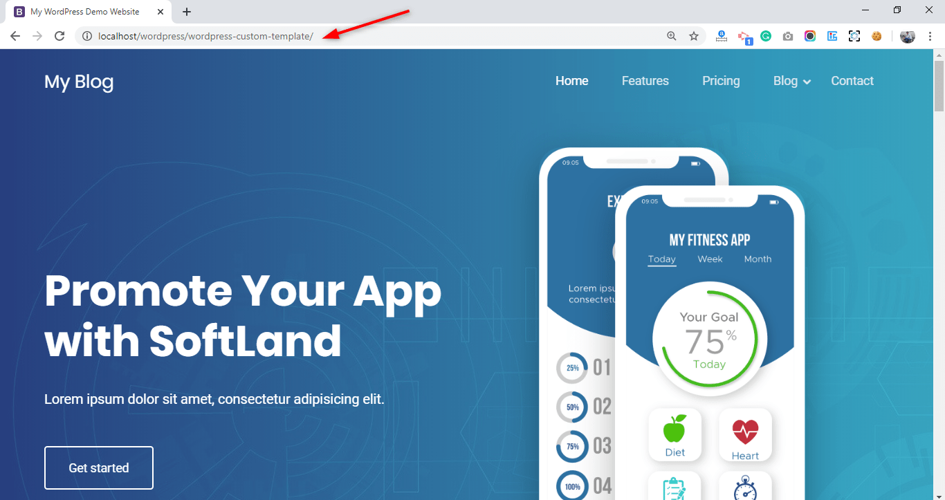 Homepage - WordPress Custom Template