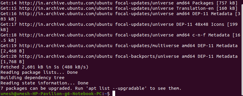 apt package updates available
