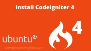 Install CodeIgniter4