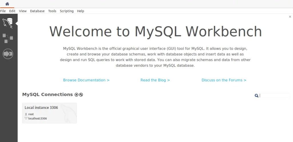 MySQL Workbench connections